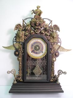 """""""Time Release"""" assemblage/sculpture of found vintage and antique objects by Assemblique™"""