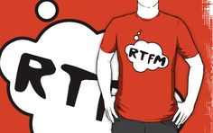 RTFM T-shirt by Bubble-Tees.com by Bubble-Tees