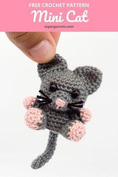 Cat Crochet, Crochet Animal Amigurumi, Crochet Amigurumi Free Patterns, Crochet Animal Patterns, Crochet Gifts, Crochet Animals, Crochet Dolls, Free Crochet, Knitting Patterns