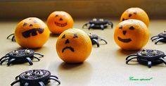 Halloween: Galletas Araña Y Mandarinas Calavera