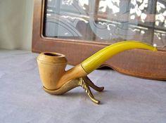 Vintage Meerschaum Pipe Tobacco Pipe Smoking by cynthiasattic, $35.00