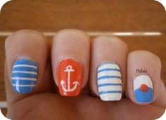 In the navy nail art http://lesonglesenchantesdepolux.blogspot.fr/2013/07/ongles-marins.html