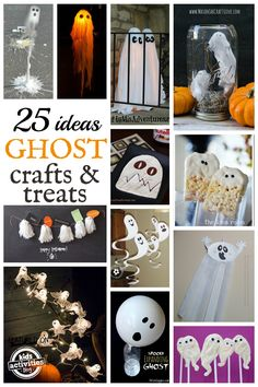 Lots of fun ghost crafts and yummy treats from Kids Activities Blog!