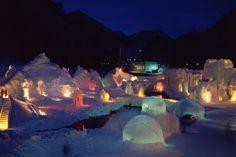 Ice Sculpture Festival in Niseko, Japan