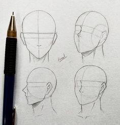 , - Анимация Лисенок смотрит на перо, зависшее в воздухе, maryla Naruto - Anatomy Sketches, Anatomy Drawing, Anatomy Art, Art Drawings Sketches, Manga Drawing Tutorials, Drawing Techniques, Nose Drawing, Drawing Faces, Body Kun