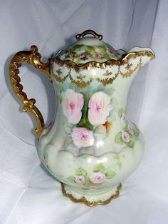 Elite Limoges Porcelain Coffee Pot Signed Brun http://theonewithin.SBC90.com/?SOURCE=PINTEREST