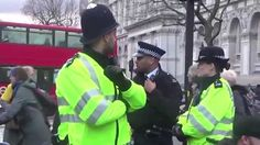 Disabled Protesters Block Whitehall, Central London