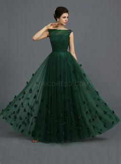 Indian Gowns Parties Dark Green Tulle Sheer A-line Evening Party Dresses Long Floor Length Cap Sleeves 2015 Elegant Prom Dress For Girls Long Gown Dress, A Line Evening Dress, Green Evening Dress, Evening Dresses, Prom Dresses, Dinner Dresses, Designer Evening Gowns, Green Gown, Cap Dress