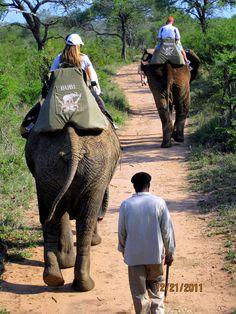 Riding Elephants :) Camp Jabulani, South Africa