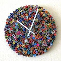 Eco-Friendly Rainbow Wall Clock