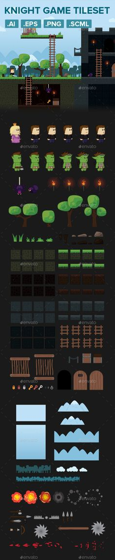 Warrior Platformer Game Tileset and Assets Download here: https://graphicriver.net/item/warrior-platformer-game-tileset-and-assets/19562342?ref=KlitVogli