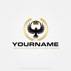 Create a Logo – Eagle crown logo templates