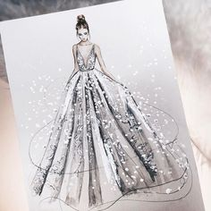 42 Ideas For Drawing Fashion Sketches Dresses Gowns Illustration Mode, Fashion Illustration Sketches, Fashion Sketchbook, Fashion Sketches, Design Illustrations, Sketchbook Drawings, Sketchbook Ideas, Sketchbook Inspiration, Arte Fashion