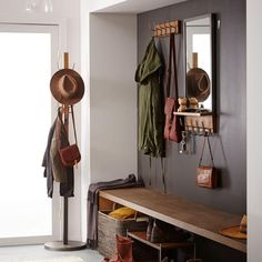 Our Industrial Coat Rack is a convenient (and stylish) landing spot for all of your outerwear, no clothing hangers required.