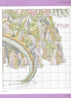 The Castle Theresa Wentzler From Cross Stitch Gold N 19 6 of 7 Dragon Cross Stitch, Fantasy Cross Stitch, Cross Stitch Fairy, Cross Stitch Charts, Cross Stitch Designs, Cross Stitch Patterns, Cross Stitching, Cross Stitch Embroidery, Dragons