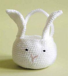 Amigurumi Bunny Basket :) Easter crafts!