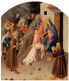 Fra Angelico,Adoration of the Magi. tempera and gold on cm, Abegg-Stiftung, Bern, Switzerland Fra Angelico, Renaissance Image, Italian Renaissance, Saint Dominique, European Paintings, Catholic Art, Art Database, Jesus Cristo, Epiphany