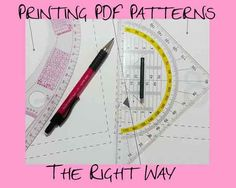 How to print and put together PDF sewing patterns - this shortcut is great!