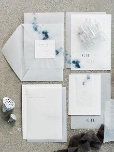 celestial inspired wedding invitations on vellum