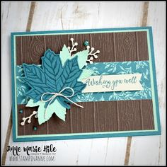 Stampin' Anne Fall card using Gather Together Thanksgiving Cards, Holiday Cards, Christmas Cards, Halloween Cards, Fall Halloween, Leaf Cards, Stampinup, Wink Of Stella, Get Well Cards