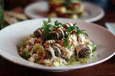 Raw falafel salad