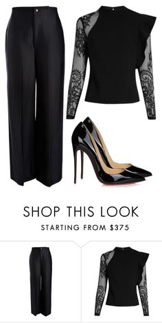 Designer Clothes, Shoes & Bags for Women Cute Work Outfits, Lazy Day Outfits, Classy Outfits, Chic Outfits, Curvy Women Fashion, Look Fashion, Work Attire Women, Dinner Party Outfits, Trouser Outfits