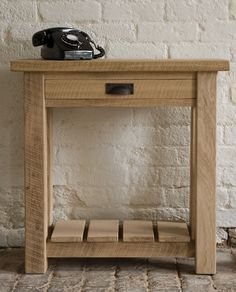 Indigo Oak Telephone Table handcrafted in solid oak using traditional techniques and the ideal size for your hallway. #home #console #oak #solidwood #indigofurniture