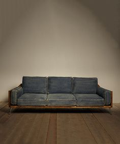 Look at this Denim Sofa on #zulily today!