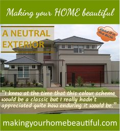 How to achieve a classic neutral exterior - Making your HOME beautiful
