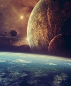 Planets floating in space #Space #Planet