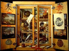 """""""The Art Cupboard"""" after a 17th Century painting. Unknown artist, probably Dutch."""