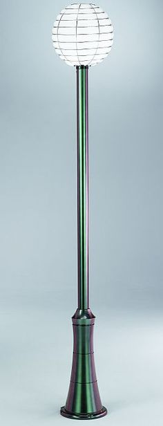 Check Out This Beautiful White Murano Glass And U0027scarab Greenu0027 Tall Garden  Light By