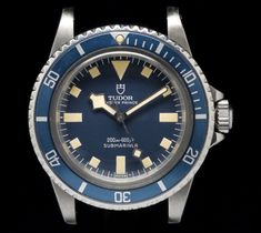 Montre tudor submariner 9401 /0 marine national mn 1981 blue snowflake dial