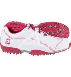 FootJoy Womens M:Project Spikeless Golf Shoes White/Fuschia (FJ#