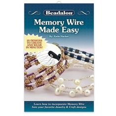 BK405 - Memory Wire Made Easy Booklet by Katie Hacker - Only at... JewelrySupply.com Memory Wire Jewelry, Memory Wire Bracelets, Old Jewelry, Simple Jewelry, Charm Jewelry, Jewelry Shop, Jewelry Crafts, Beaded Jewelry, Silver Jewelry