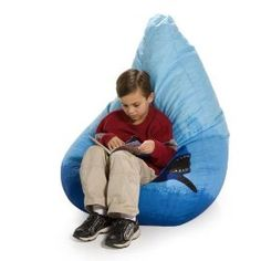 A little less little-kid than the other bean bag in this set. Nice if you're trying to just add one or two shark pieces to a bedroom.