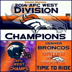 Afc West Champs 4 straight years!