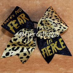 No Fear in Fierce Cheer Bow by MyFierceBows on Etsy