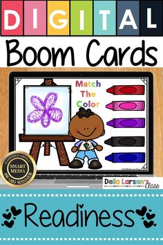 Make the adjustment to kindergarten easier with Boom Cards. Fun ideas for Preschool and kindergarten readiness. Help get your student ready for kindergarten and back to school with a fun game on  an ipad or a chromebook. Be ready for the kindergarten curriculum this fall. #readyforkindergarten #kindergarten #backtoschool #readiness Kindergarten Curriculum, Classroom Activities, Literacy Stations, Literacy Centers, Teaching The Alphabet, Interactive Learning, Google Classroom, Learning Centers, Preschool