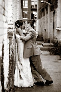 Wedding Photography... This sexy photo of the bride and the groom is a must