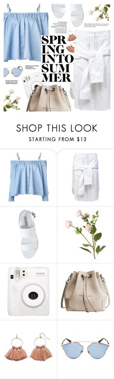 """""""Spring Into Summer"""" by flaunting ❤ liked on Polyvore featuring Sandy Liang, T By Alexander Wang, Steve Madden, OKA, Fuji, LC Lauren Conrad and Christian Dior"""