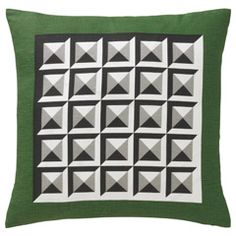 Dwell Studio Kelly Green Deco Pillow. Green Decor