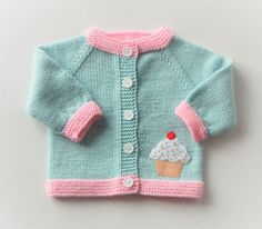 Cupkake sweater mint green sweater knitted baby by Tuttolv on Etsy