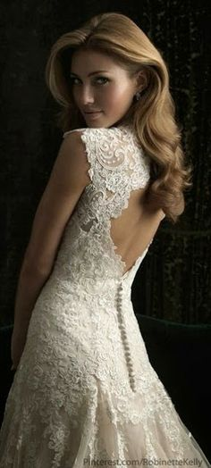 Incredible lace wedding gown | Just a pretty bride