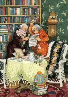 Старушки-Веселушки от Инге Лёёк.2345