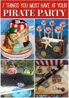 7 must-have pirate party ideas! See more party ideas at CatchMyParty.com. #pirates #partyideas