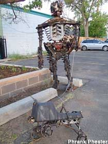 Visit reports, news, maps, directions and info on Scrap Metal Robot Walks Dog in Fort Collins, Colorado. Welding Wire, Welding Tools, Arc Welders, Metal Robot, Welding Equipment, Roadside Attractions, Fort Collins, Walks, Colorado