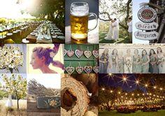 german beer garden inspiration board