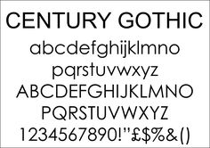 Century Gothic font is what i could use for my own website