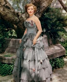 Shirley Temple pictured in 1949 at the age of 21. She could not translate her stellar success as a child star into a film career as an adult and retired from the movie industry